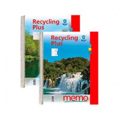 Cahier à spirales en papier recyclé format A4 ligné