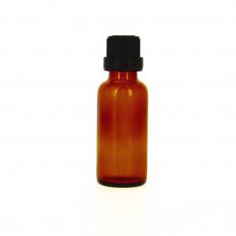 Flacon vide en verre 30 ml avec bouchon compte goutte