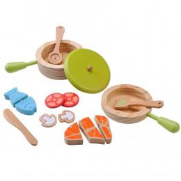 Kit d'accessoires en bois pour cuisinier - à partir de 3 ans