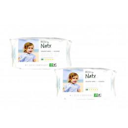 2 X Lingettes douces pour bébé - Sans parfum 100% ECO - 56pcs