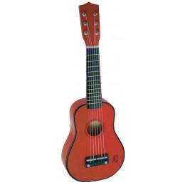 Guitare rouge en bois - à partir de 3 ans