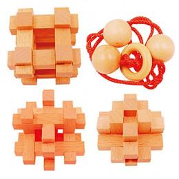 Set de 4 casse-têtes en bambou Extrême - à partir de 12 ans
