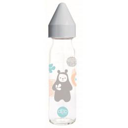 Biberon en verre Regul'air anti-colique 0-4 mois Ours 240 ml