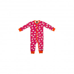 Pyjama combi en coton bio Cranberry Avions