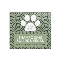 Shampooing solide pour animaux - Poils noirs - 60 ml
