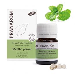 Perles d'huile essentielle BIO - Menthe poivrée - 60 perles