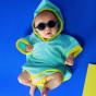 Lunettes de soleil bébé Diabola 2.0 - 0 à 1 an - Bleu denim
