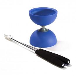 Diabolo avec baguettes en aluminium - Bleu foncé - à partir de 8 ans