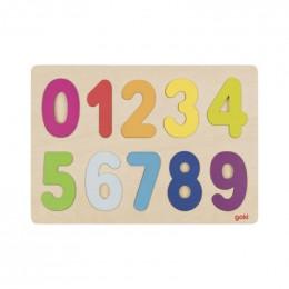 Puzzle en bois àencastrements - Chiffres - à partir de 2 ans
