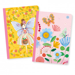 Set de 2 petits carnets - Rose