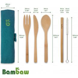 Set de couverts en bambou - Lagon
