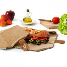 Pochette sandwich réutilisable Boc'n'Roll - Nature Brown