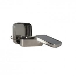 Boîte en inox Tiffin carrée à 2 étages - 1030 ml