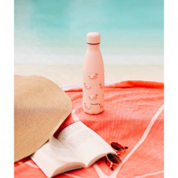 Bouteille nomade isotherme - 500 ml - Flamants roses