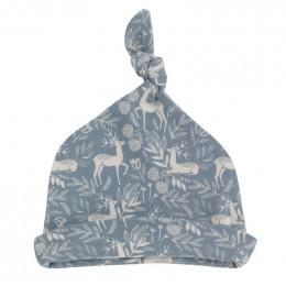 Bonnet en coton BIO - Cerf bleu