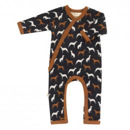 Pyjama kimono en coton BIO - Dogs navy