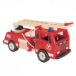 Camion de pompier en bois - à partir de 3 ans