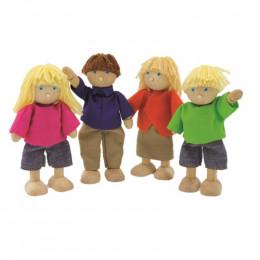 Famille de poupées pour maison en bois - à partir de 3 ans