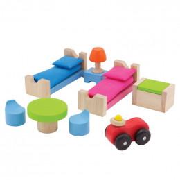 Chambre en bois pour poupées enfants - à partir de 3 ans