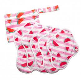 Kit de départ - serviettes hygiéniques lavables Ultra -  Pastèques