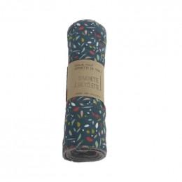 Essuie-tout et serviette de table - lot de 6 - Bleu canard