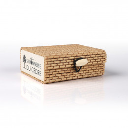 Boîte à savon en bambou - Naturel foncé