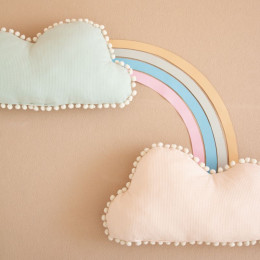 Coussin nuage Marshmallow - Dream pink