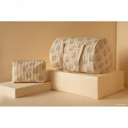 Trousse de toilette Travel - Blue gatsby & Cream
