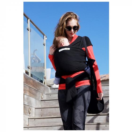 Echarpe porte-bébé basic: presque noir - SeBio