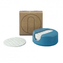 LastRound - 7 disques démaquillants réutilisables en étui - Bleu