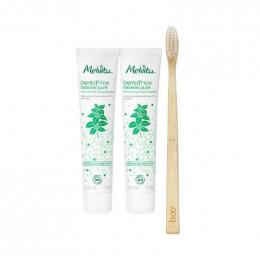 Duo de dentifrices Bio Haleine pure - Arôme de menthe 75 ml + Brosse à dent
