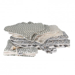 7 serviettes hygièniques lavables + pochette - Clair