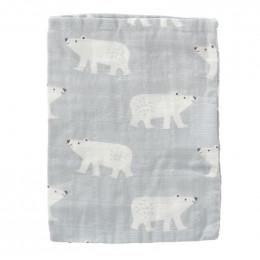 Set de 3 gants de toilette en tétra - Polar Bear