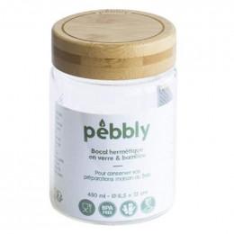 Bocal hermétique en verre et bambou - 450 ml