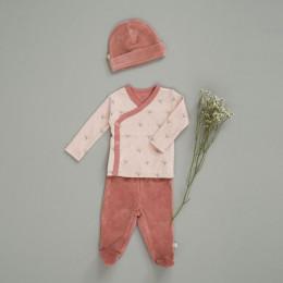 Pantalon bébé à pieds Ash rose