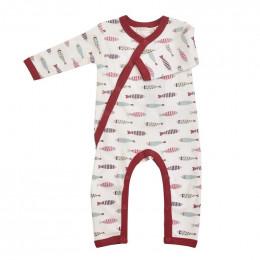Pyjama kimono en coton BIO - Poissons rouges
