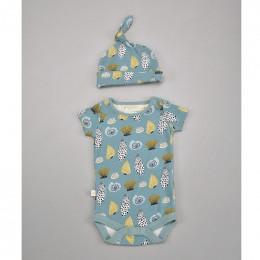 Bonnet en coton BIO - Coquillages Bleu