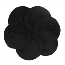 Coussinets d'allaitement plats en coton organique flanelle  - lot de 6 - Noir