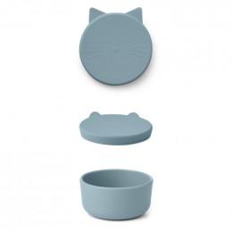 Boîte à collations Cornelius - Cat sea blue