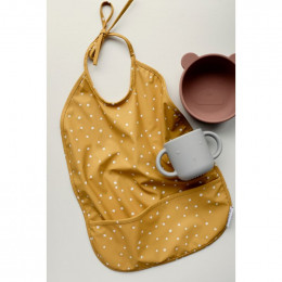 Bavoir Lai imperméable Confetti yellow mellow