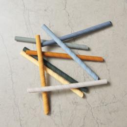 Set de 8 pailles Zoe - Blue multi mix