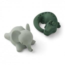 Set de 2 jouets de bain Vikky - Safari green mix