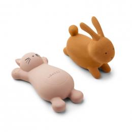 Set de 2 jouets de bain Vikky Cat rose