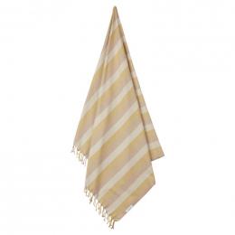 Serviette de plage Mona - Y&D stripe: Peach&sandy&yellow mellow