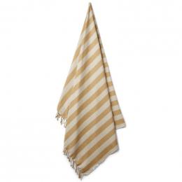 Serviette de plage Mona - Y&D stripe: Mustard&sandy
