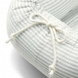 Nid bébé Gro - Y&D stripe: Sea blue & white