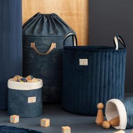 Sac à jouets Bamboo - Gold stella & Night blue - large