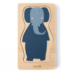 Puzzle 4 couches d'animaux en bois
