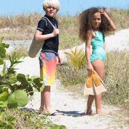 Palmes en caoutchouc naturel pour enfants - Pêche