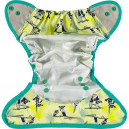 Culotte de protection pour couches lavables - Taille unique pression - Lémur